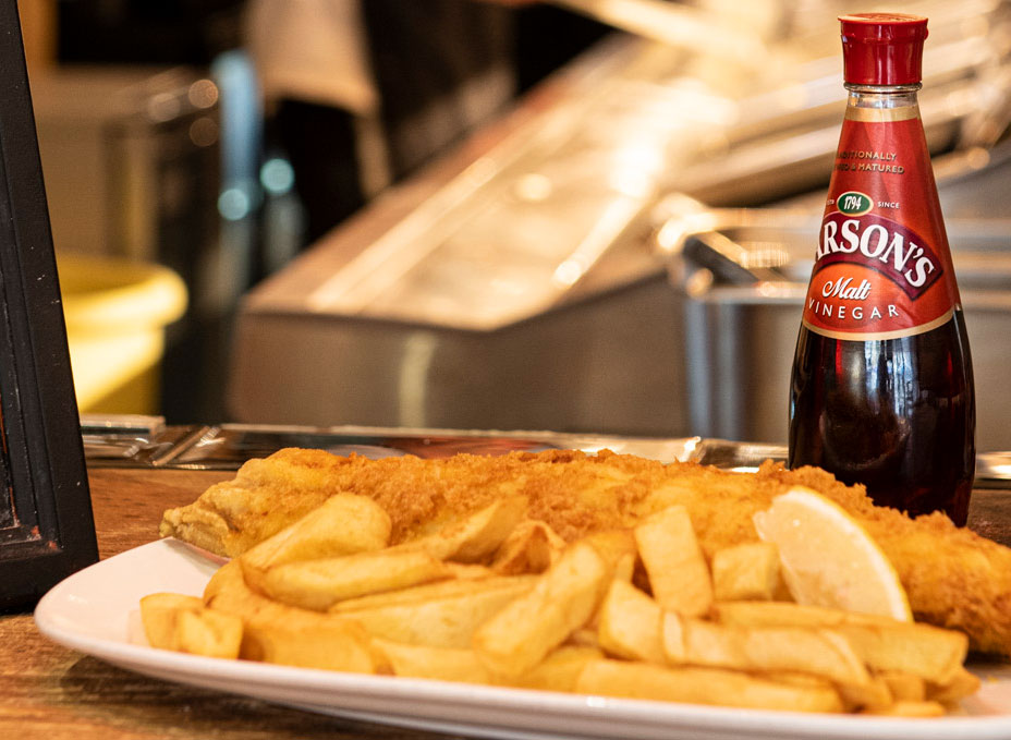 Find out How Sarson's Vinegar is Made - Switch to Sarson's - Proud to Serve Quality Fish and Chips Shops of Great Britain - Sarsons Bottles