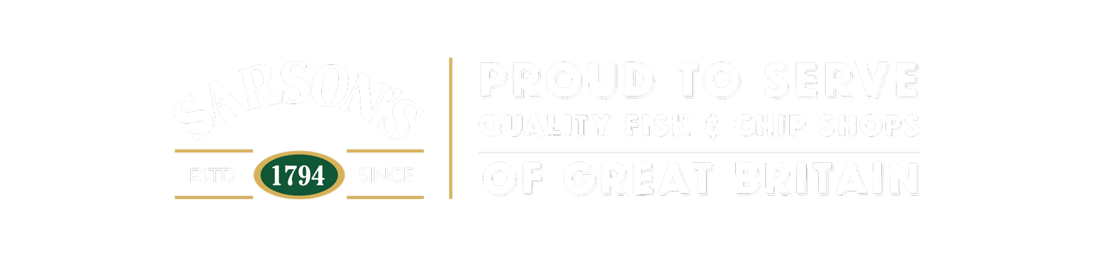 Switch to Sarson's - Proud to Serve Quality Fish and Chips Shops of Great Britain